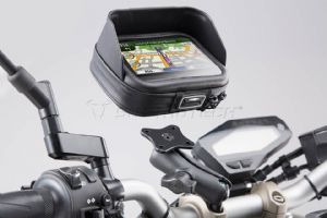 SW MOTECH GPS Mount Kit Navi Case Pro M For Handlebar Ø 22mm / 25mm / 28 mm  GPS.00.308.30001/B